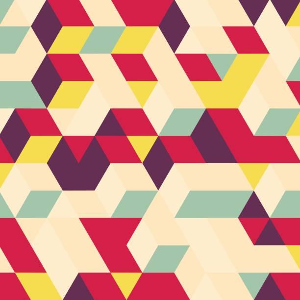 illustrations, cliparts, dessins animés et icônes de abstrait géométrique 3d-plan. - carré composition