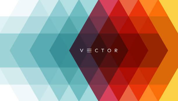 abstrakcyjne tło geometryczne. wielokątny wzór z kolorowymi trójkątami. ilustracja wektorowa 3d do celów reklamowych, marketingowych i prezentacyjnych. - kolory stock illustrations