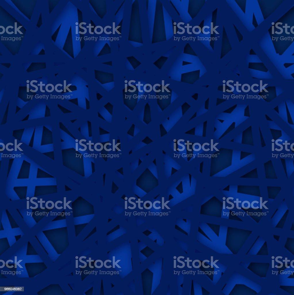 Abstracte geometrische blauwe achtergrond. Vectorillustratie. - Royalty-free Abstract vectorkunst