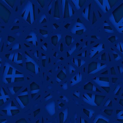Abstracte Geometrische Blauwe Achtergrond Vectorillustratie Stockvectorkunst en meer beelden van Abstract