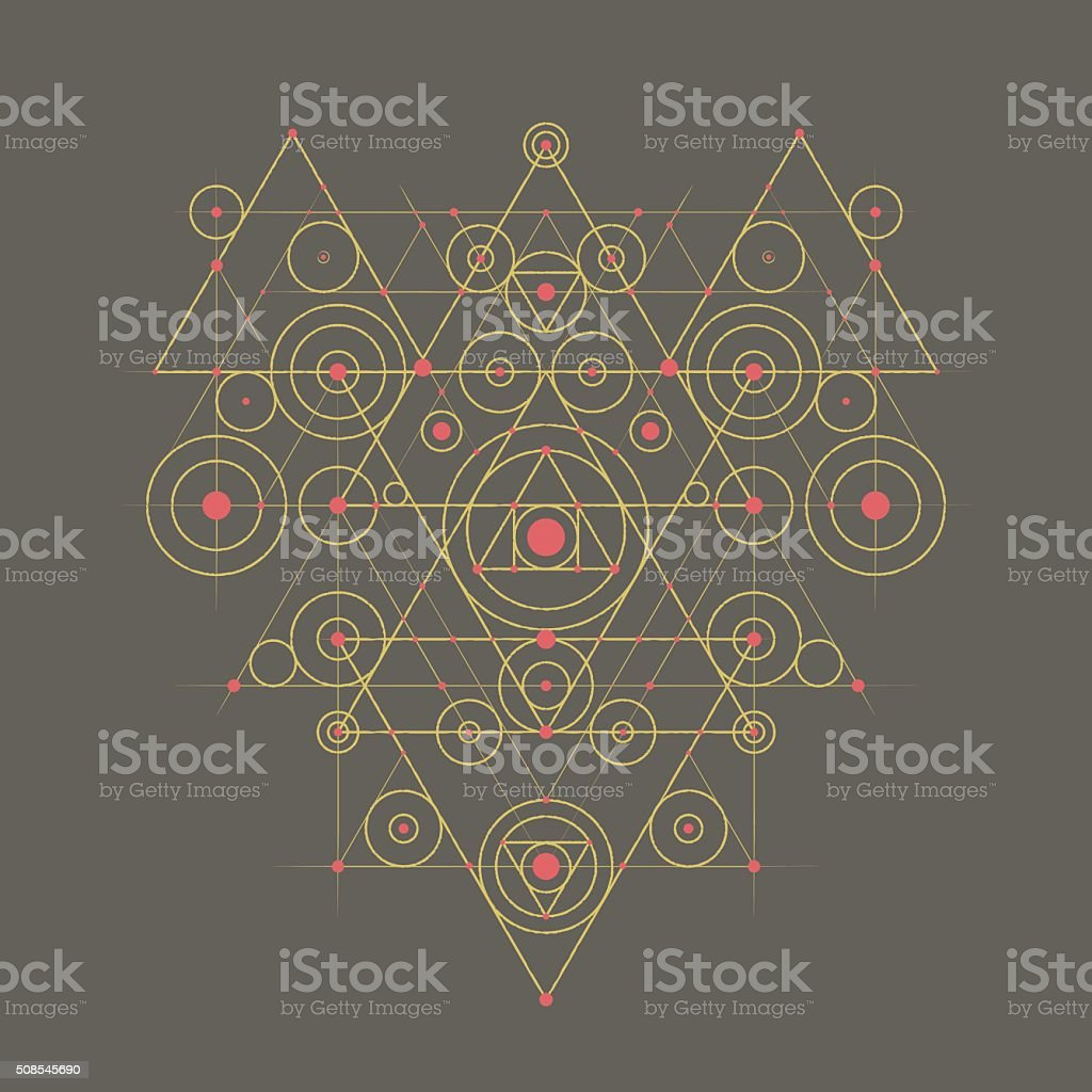 Abstract Geometrical Composition vector art illustration