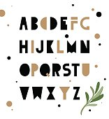 Abstract geometry alphabet. Hipster