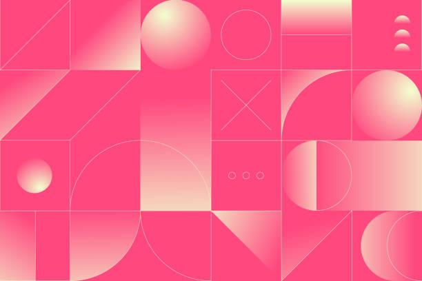 Abstract Geometry Pattern Artwork vector art illustration