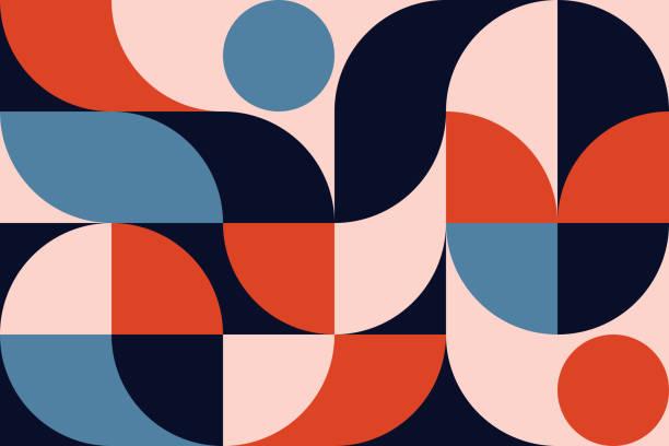 bildbanksillustrationer, clip art samt tecknat material och ikoner med abstrakt geometri mönster konstverk - pattern
