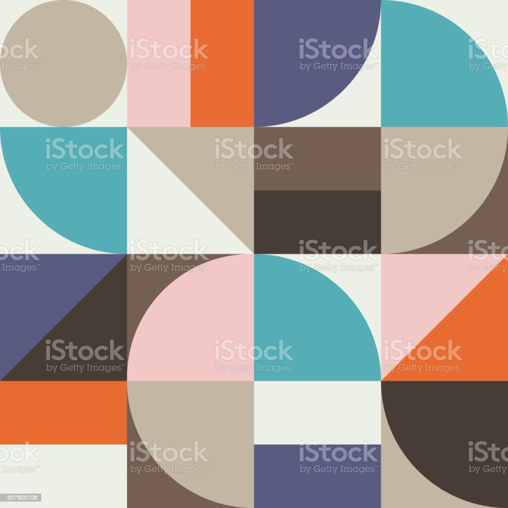 Geometría abstracta patrón gráfico 02 - ilustración de arte vectorial