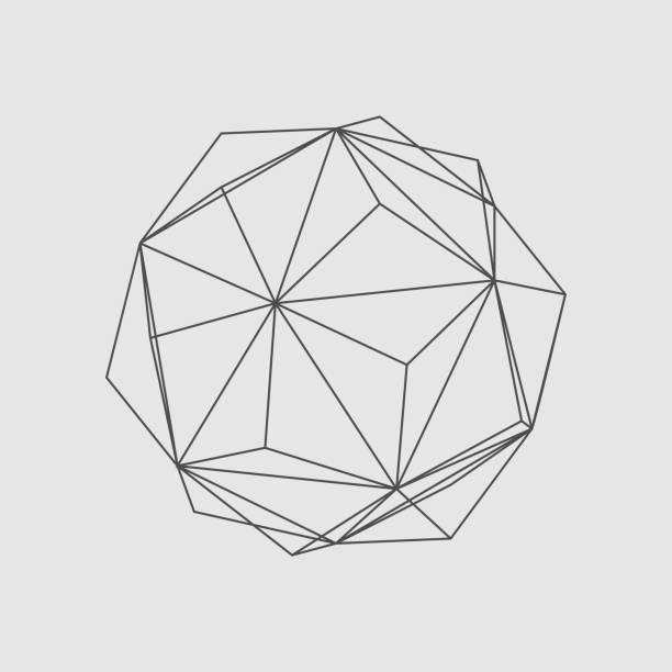 stockillustraties, clipart, cartoons en iconen met abstract geometry vorm - veelvlakkig