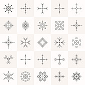 Abstract geometry symbols set.