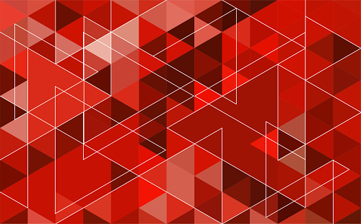 Abstract geometry  triangle red.