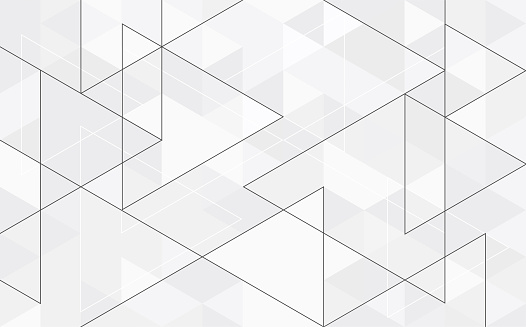Abstract geometry  triangle  white and gray .