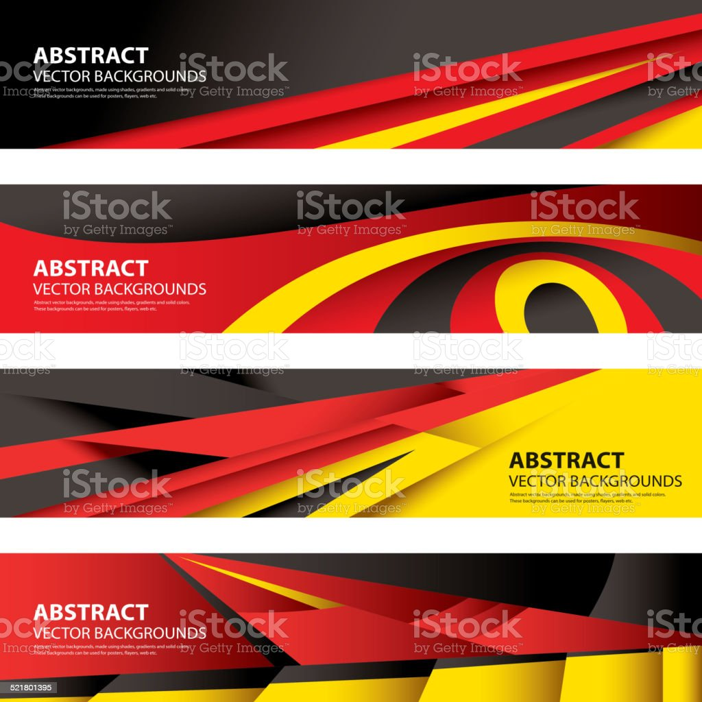 Abstract German Flag, Germany Background (Vector Art) vector art illustration