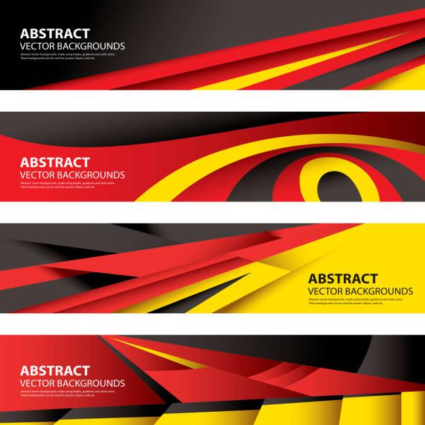 Abstract German Flag, Germany Background (Vector Art) vector art illustration