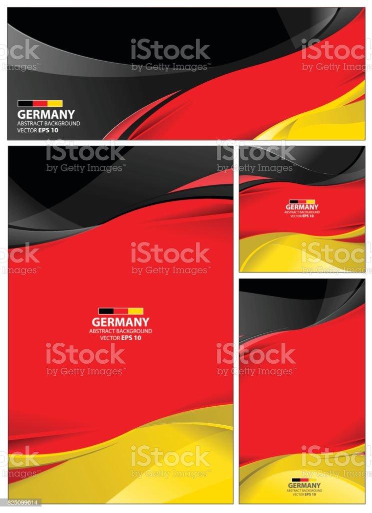Abstrakte Deutschland Flagge Hintergrund – Vektorgrafik