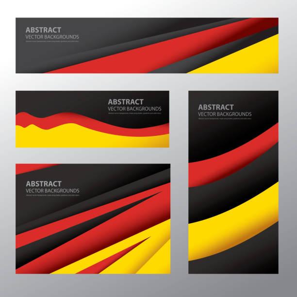 Abstrait, en Allemagne, aux couleurs du drapeau allemand (vectoriels - Illustration vectorielle