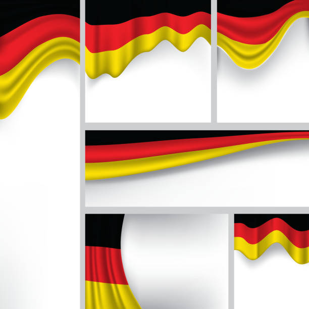 ilustraciones, imágenes clip art, dibujos animados e iconos de stock de abstract alemania bandera alemana de colores (arte vectorial - bandera alemana