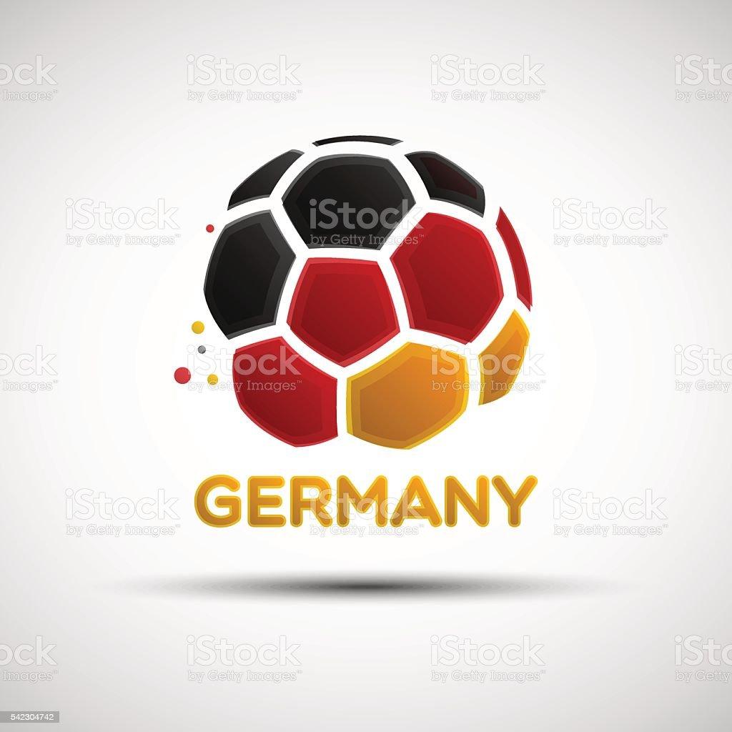 Abstract Germany soccer ball vector art illustration
