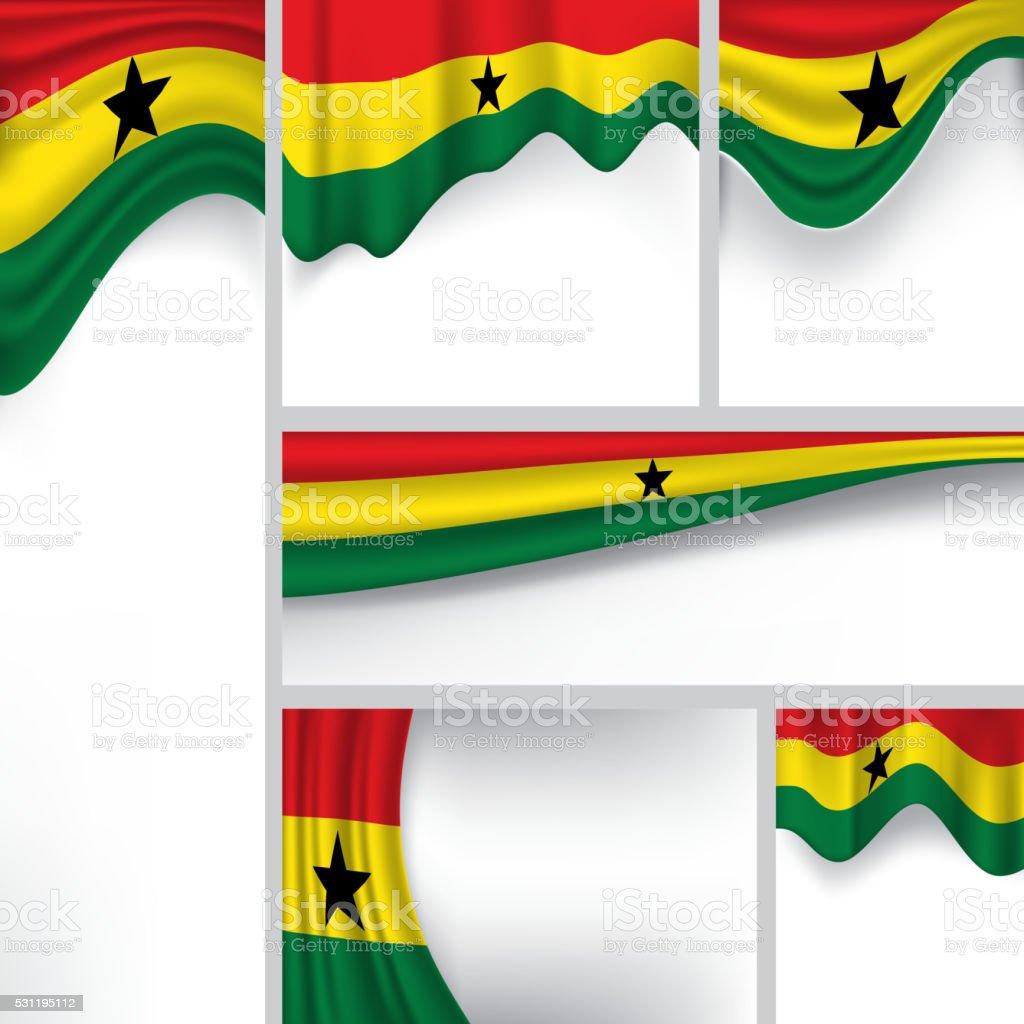 Abstracto bandera de Ghana, ghanés colores (arte vectorial) - ilustración de arte vectorial