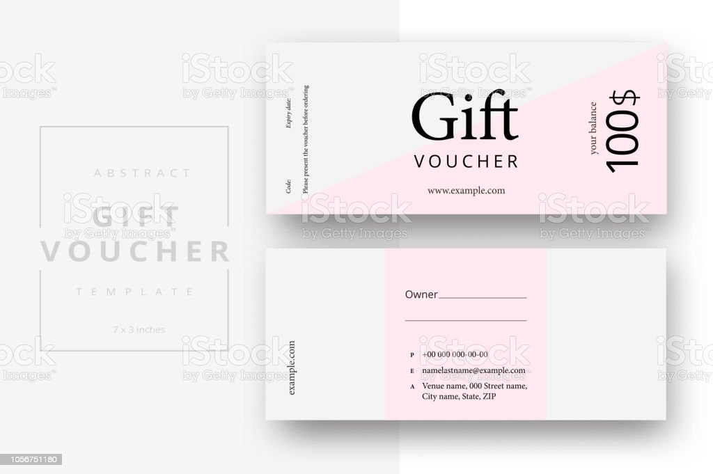 abstract gift voucher card template modern discount coupon or