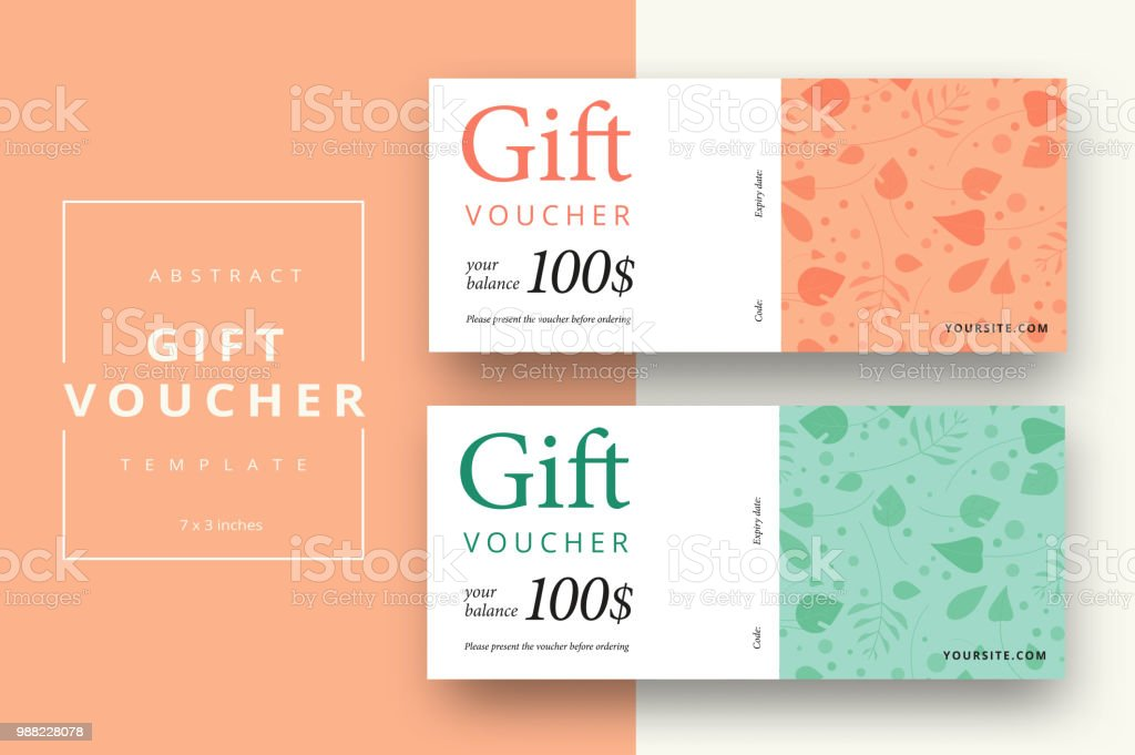 Abstract Gift Voucher Card Template Modern Discount Coupon Or Certificate Layout With Geometric Shape Pattern Vector Fashion Bright Background Design With Information Sample Text Stock Illustration Download Image Now Istock