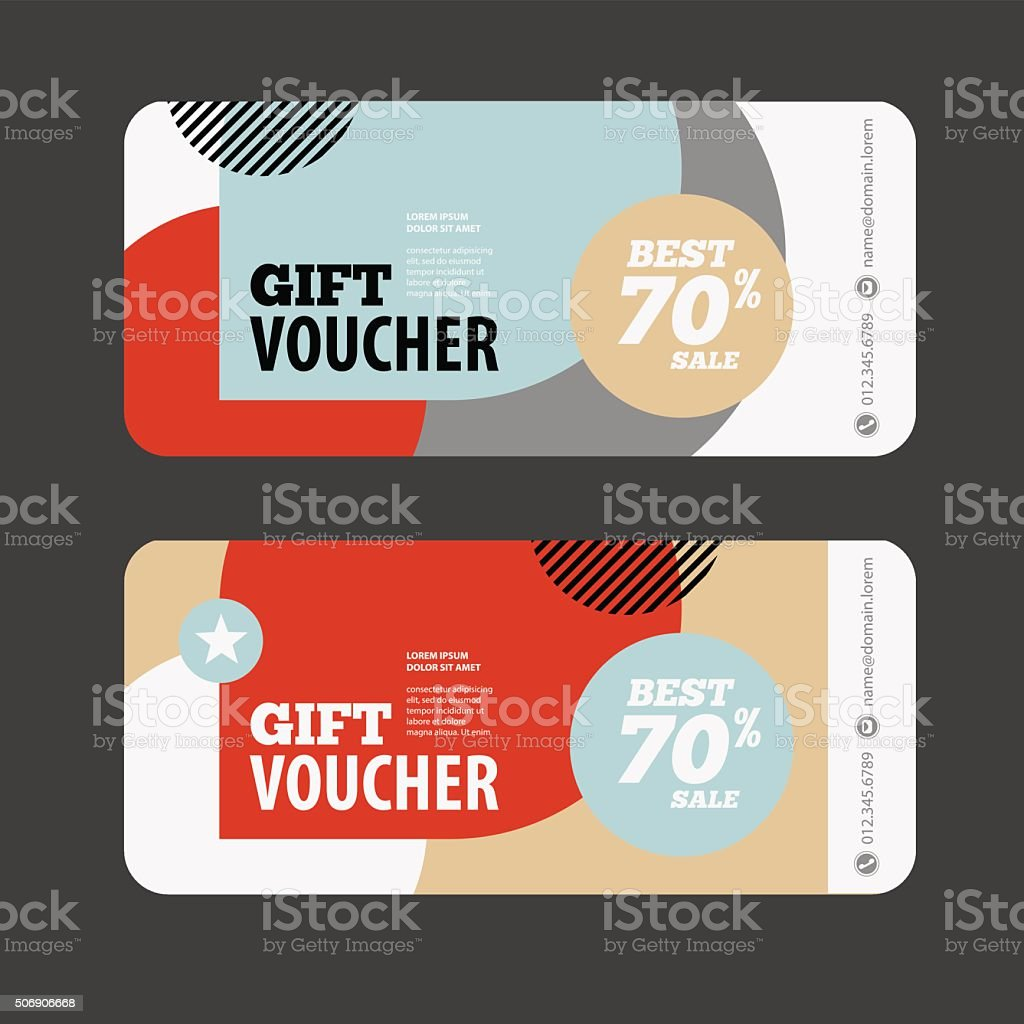 abstract gift voucher or coupon design template stock vector art