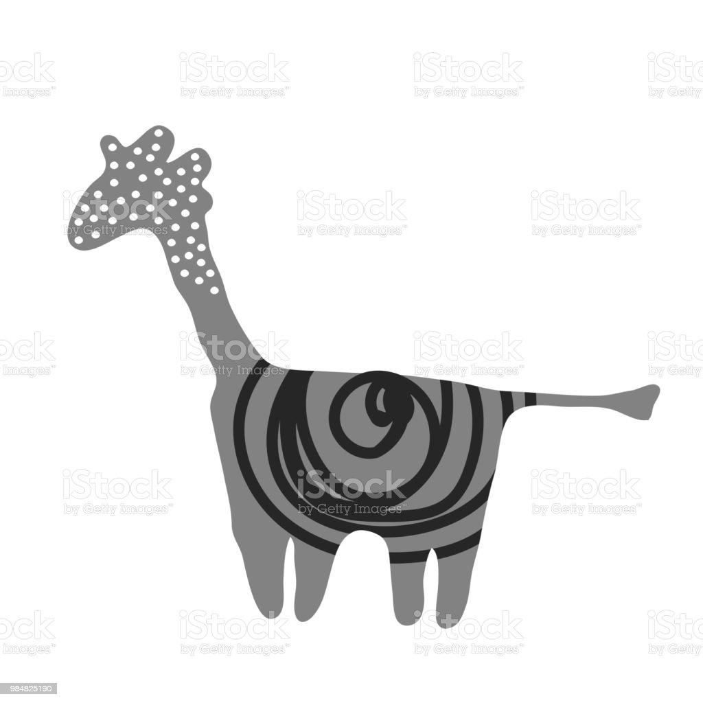 Abstract giraffe illustration safari animal poster fpr kids printable vector icon royalty