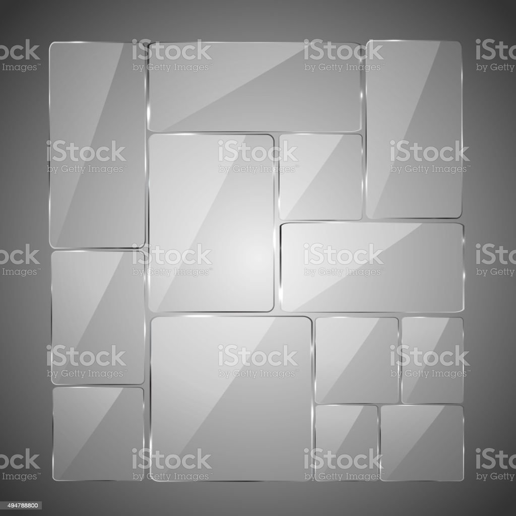 Abstracto fondo de vidrio - ilustración de arte vectorial