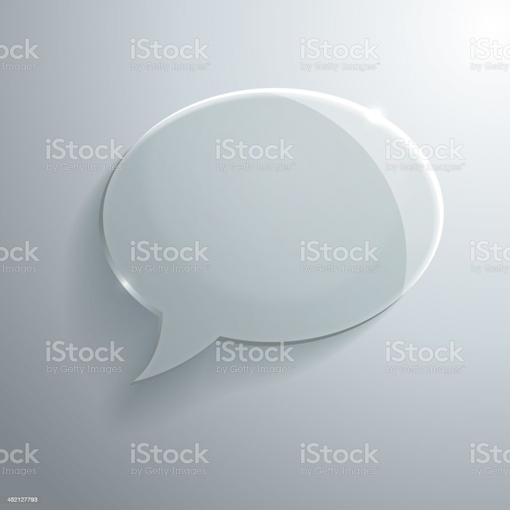 Abstract Glass Speech Bubble royalty-free stock vector art