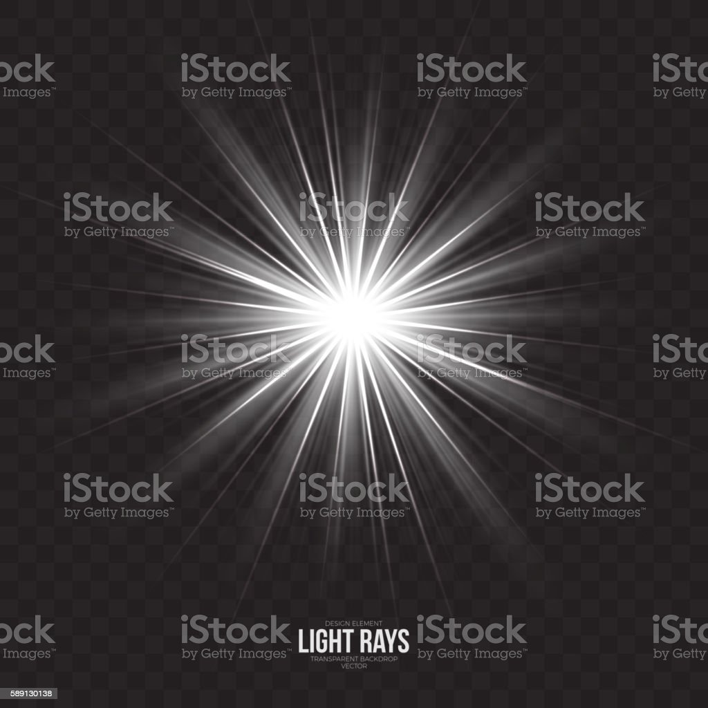 Abstract Gleaming Light Rays Vector Background vector art illustration