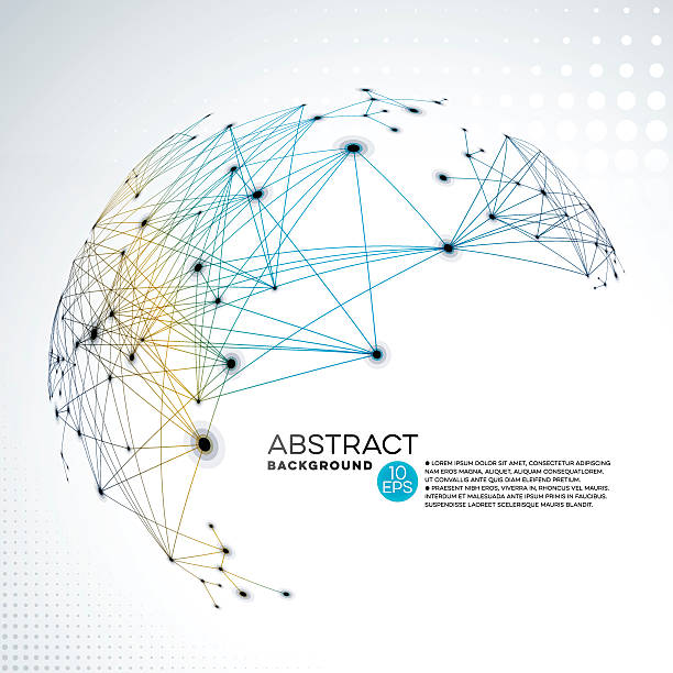 abstract global network background - global communications stock illustrations, clip art, cartoons, & icons
