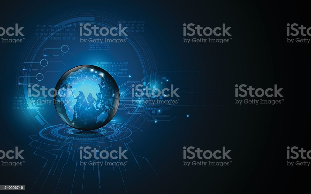 abstract global network technology innovation concept background design