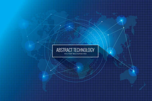 globales netzwerk-technologie innovation konzeption hintergrund abstrakt - mobile kommunikation stock-grafiken, -clipart, -cartoons und -symbole