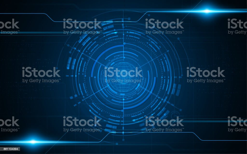 abstract global networking tech innovate futuristic concept background vector art illustration