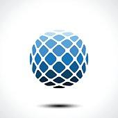 Abstract globe design icon. Vector illustration