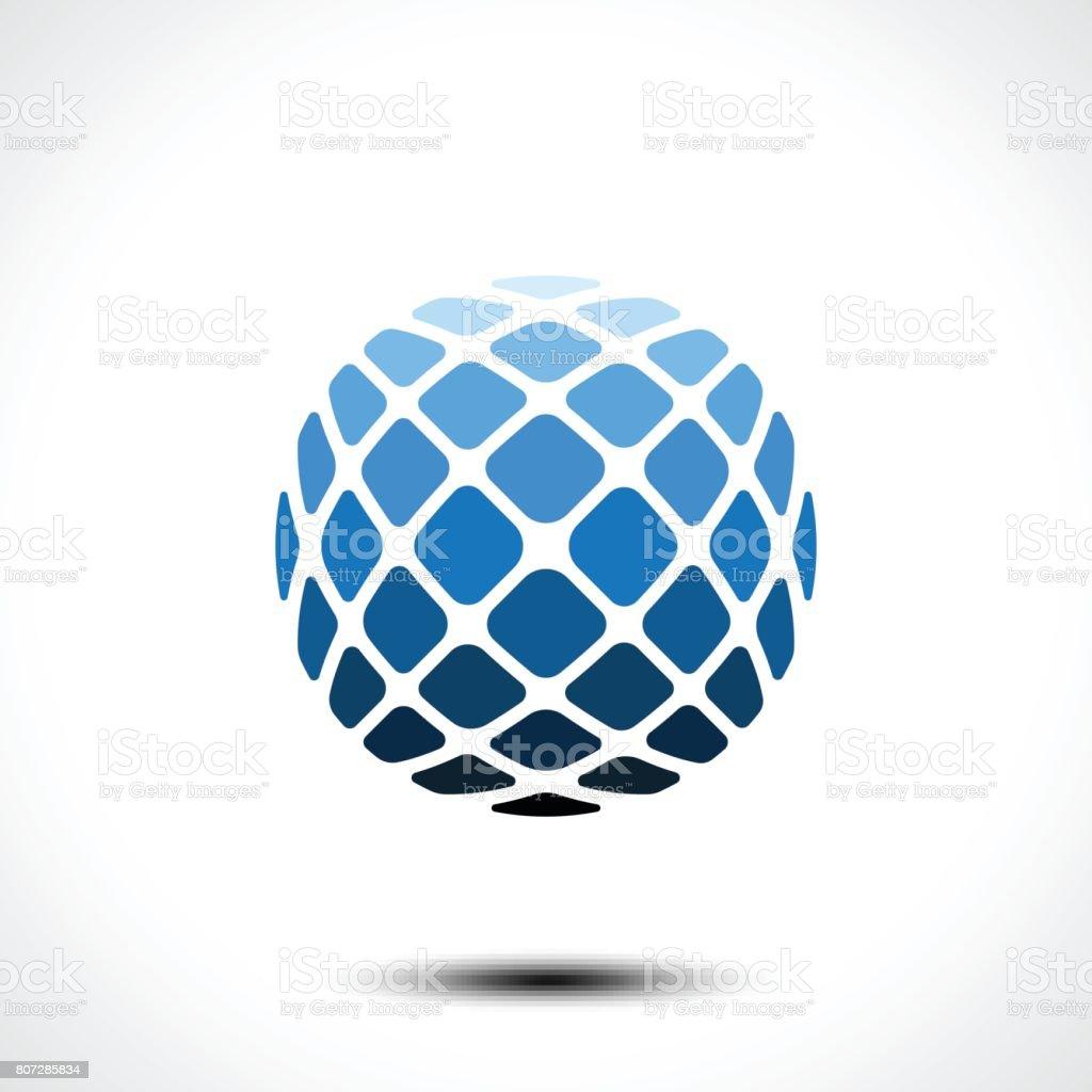 Icono del diseño del mundo Resumen - ilustración de arte vectorial