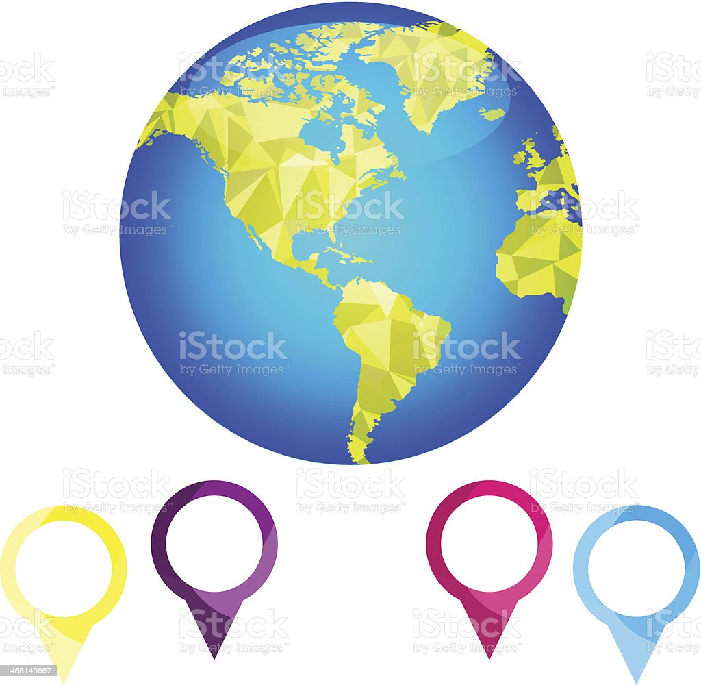 Abstract globe Vector royalty-free stock vector art