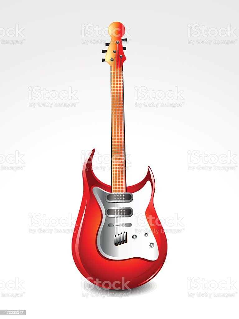 abstract glossy guitar icon