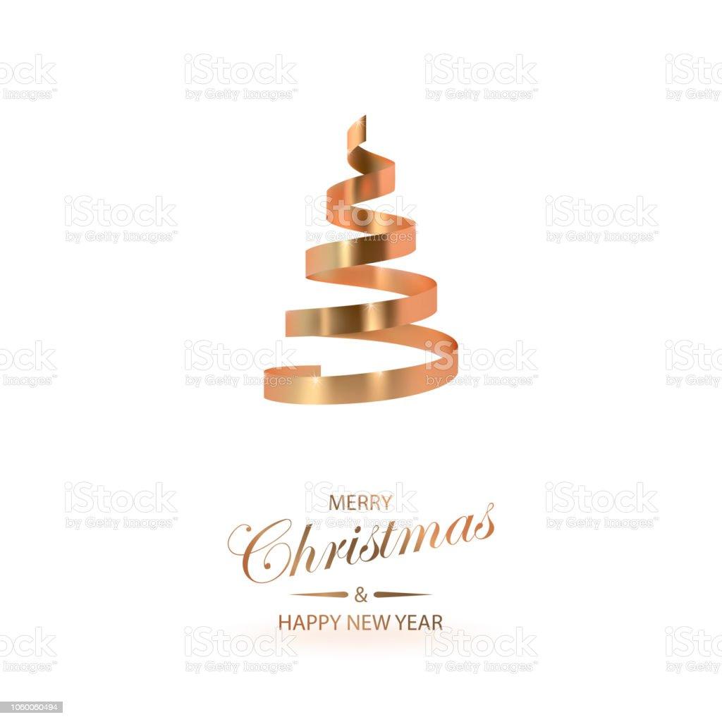 Weihnachtsbaum Metall Spirale.Abstrakt Hochglanz Spirale Weihnachtsbaum Goldene Spirale