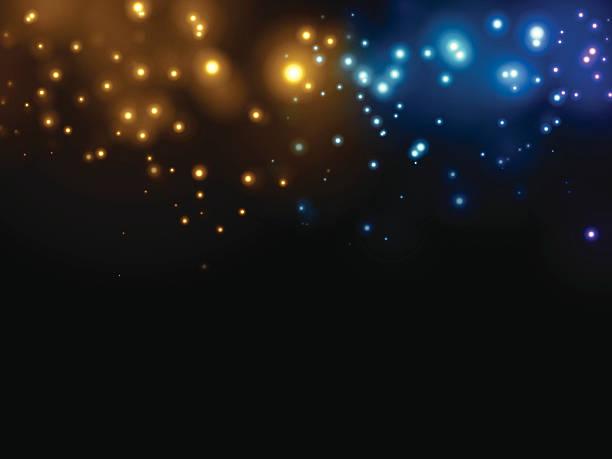 抽象的な背景の輝く - 光 黒背景点のイラスト素材/クリップアート素材/マンガ素材/アイコン素材