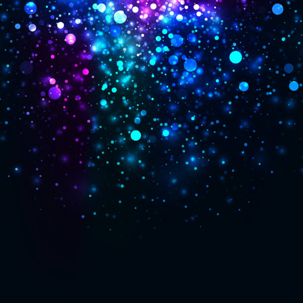 abstract glow1 copy - rainbow glitter background stock illustrations