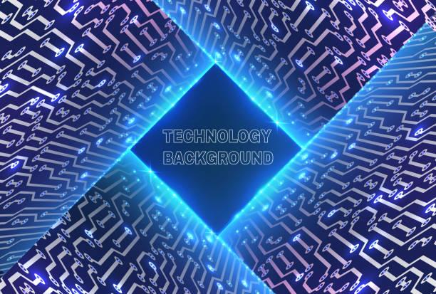 Abstrakte Glühend Technologie Hintergrund – Vektorgrafik