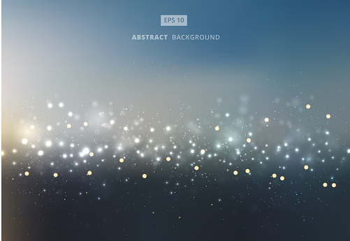 Abstract Gold And Silver Bokeh With Sky Background - Stockowe grafiki wektorowe i więcej obrazów Abstrakcja