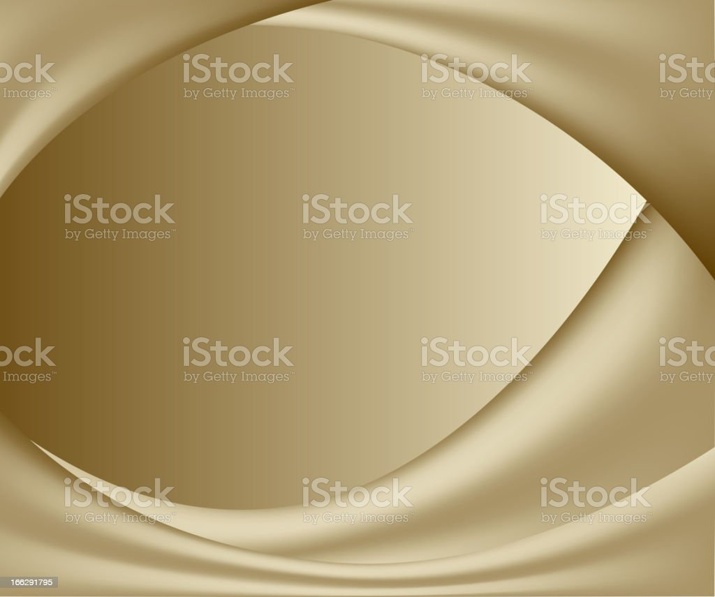 abstract gold background. wavy folds of silk royalty-free stock vector art