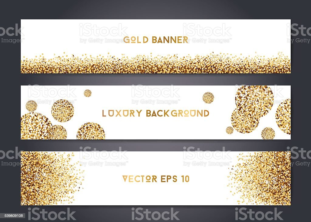 Abstract gold banner templates vector art illustration