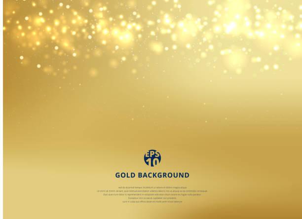 abstrakcyjne złoto rozmyte tło z bokeh i nagłówek brokat złota. - tajlandia stock illustrations