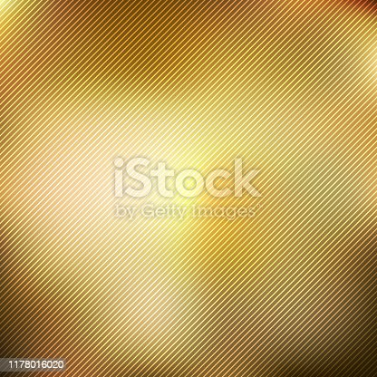 Abstract gold blurred gradient style background with diagonal lines textured. luxury smooth wallpaper. Vector illustration