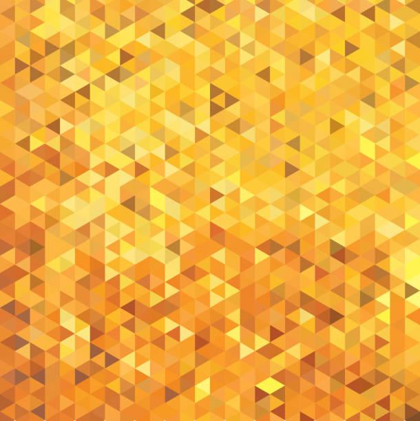 gold farbe dreieck mosaik, cube fliese zu abstrahieren. vektor-hintergrund - spiegelfliesen stock-grafiken, -clipart, -cartoons und -symbole
