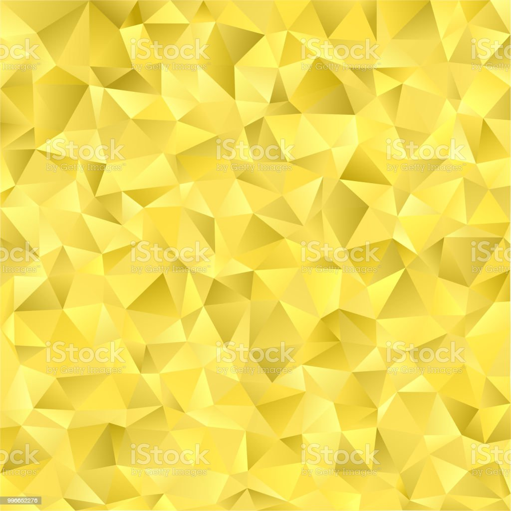 57326e6c86b Abstract Gold Geometric Background with Triangles. Vector Bright Yellow  Illustration with Gradient. - Illustration .