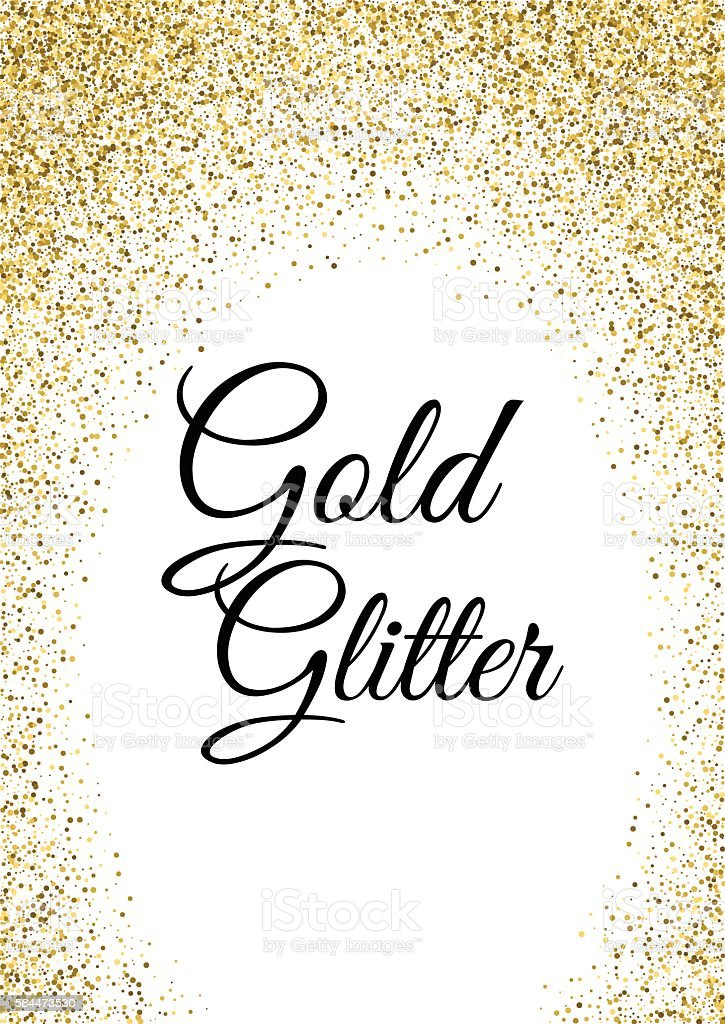 Abstract gold glitter template vector art illustration