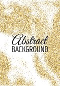 Abstract gold glitter template for birthday party, wedding invitations, banner, flyer. Vector illustration.