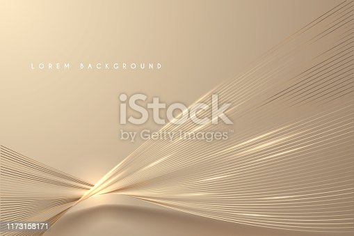 Abstract gold light threads background in vector