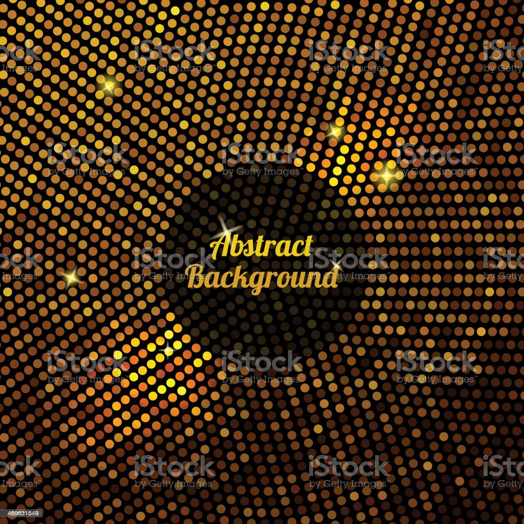 Abstract gold mosaic background. vector art illustration